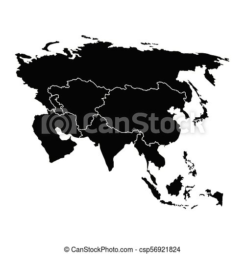 Political map of Asia - csp56921824