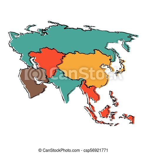 Political map of Asia - csp56921771