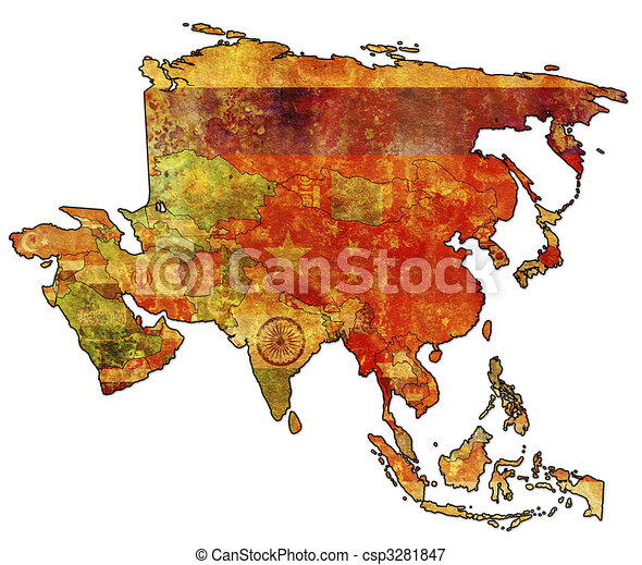political map of asia - csp3281847