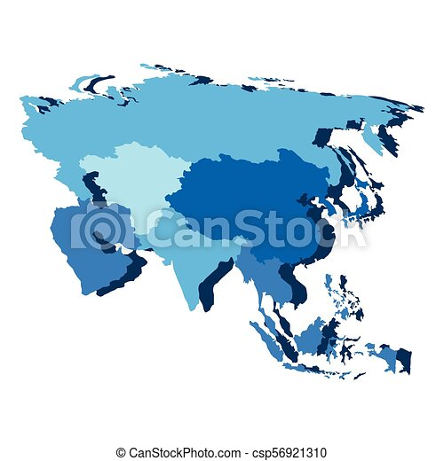 Political map of Asia - csp56921310