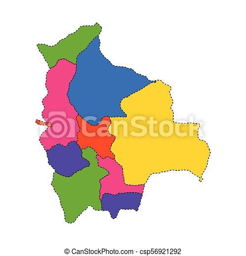 Political map of Bolivia - csp56921292
