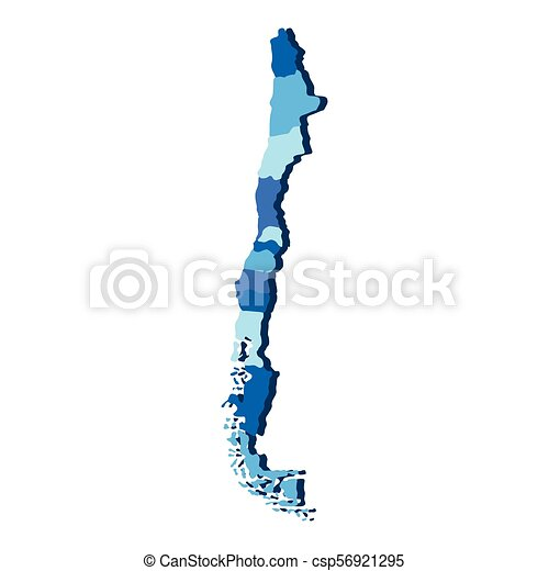 Political map of Chile - csp56921295