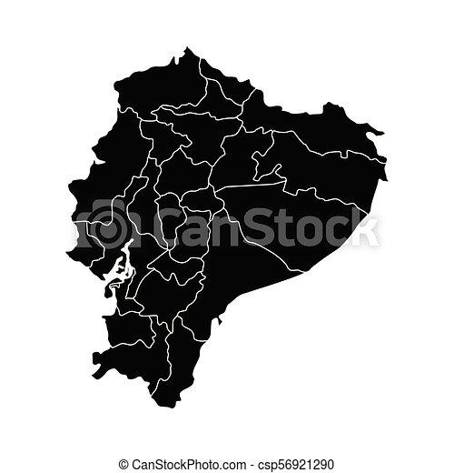 Political map of Ecuador - csp56921290