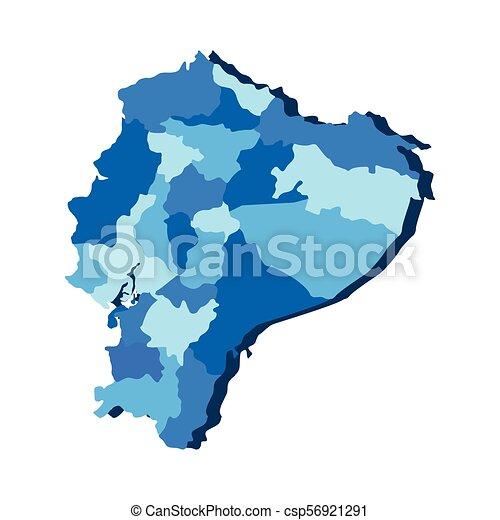 Political map of Ecuador - csp56921291