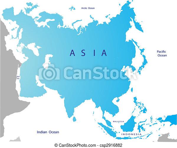 Political map of Eurasia - csp2916882