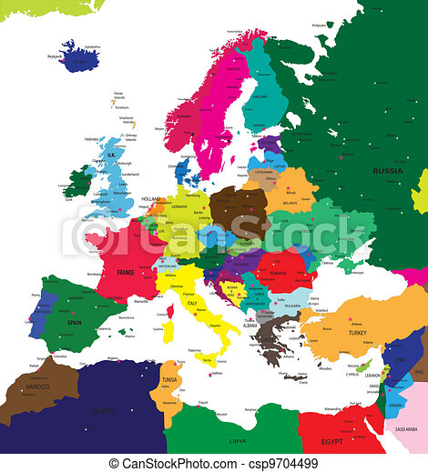 Political map of Europe - csp9704499