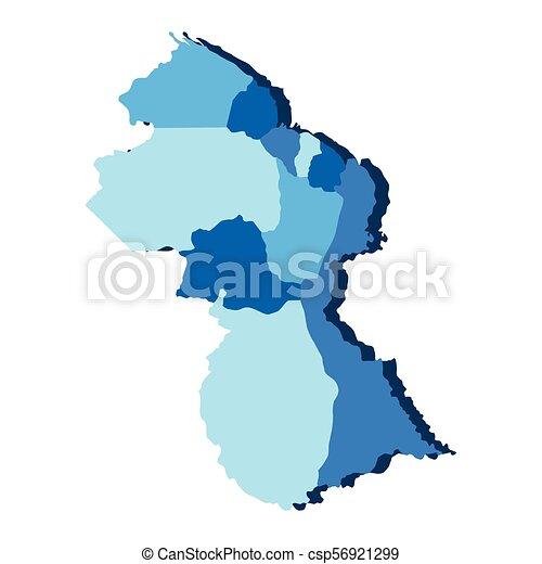 Political map of Guyana - csp56921299