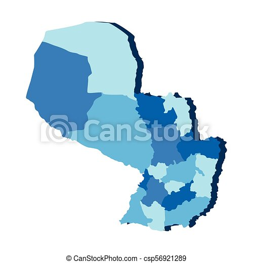 Political map of Paraguay - csp56921289