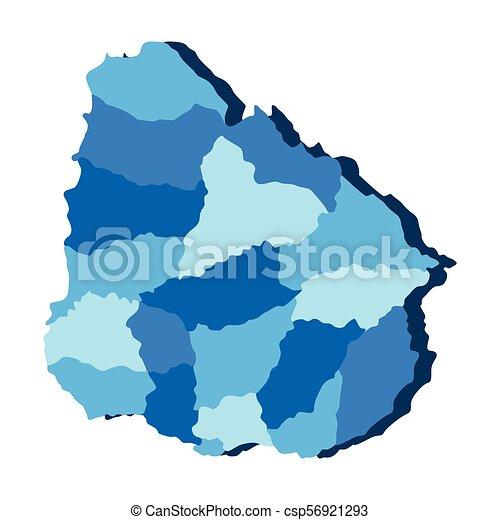 Political map of Uruguay - csp56921293
