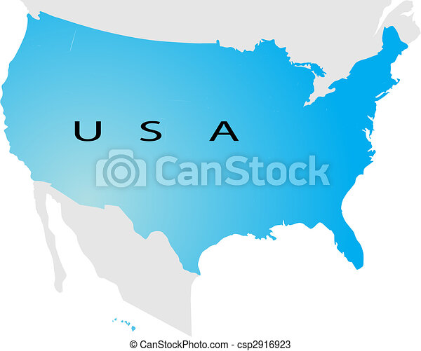 Political map of USA - csp2916923