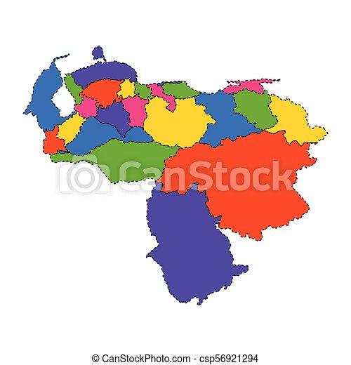 Political map of Venezuela - csp56921294
