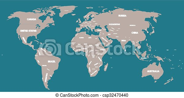 political map of world csp32470440