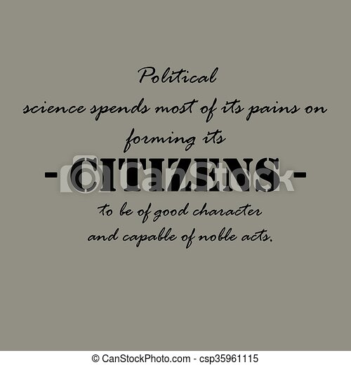 Political science spends most of its pains... - csp35961115