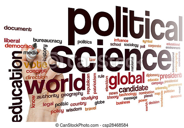 political science word cloud concept