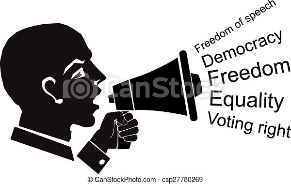 computer drawing vector linear silhouette face profile and rh canstockphoto com political clip art images politics clipart