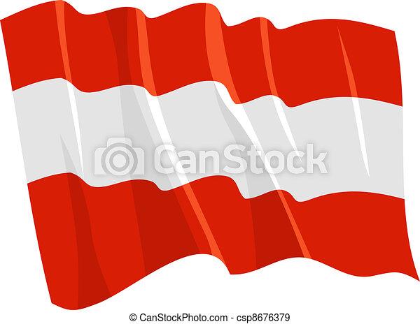 Political waving flag of Austria - csp8676379