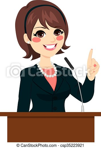 Politician Woman Speaking - csp35223921