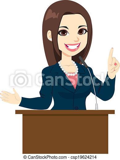 Politician Woman Speech - csp19624214