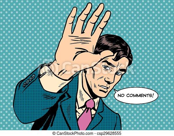 politicien, non, célébrité, comments, homme affaires, mâle - csp29628555