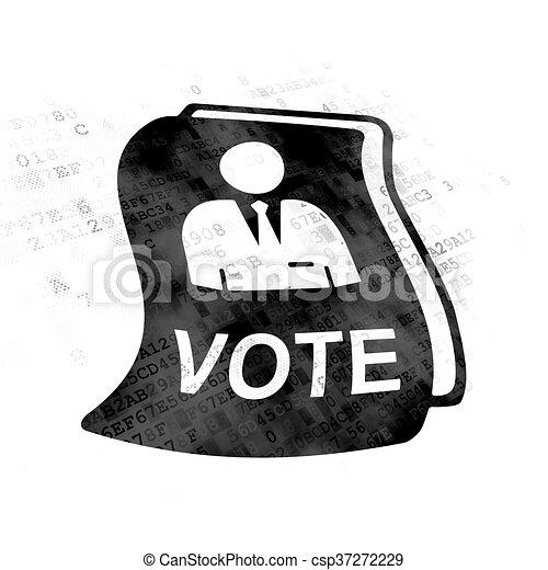 Politics concept: Ballot on Digital background - csp37272229