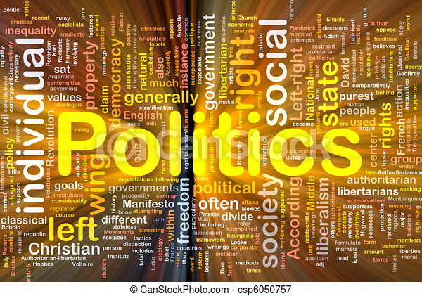 Politics social background concept glowing - csp6050757