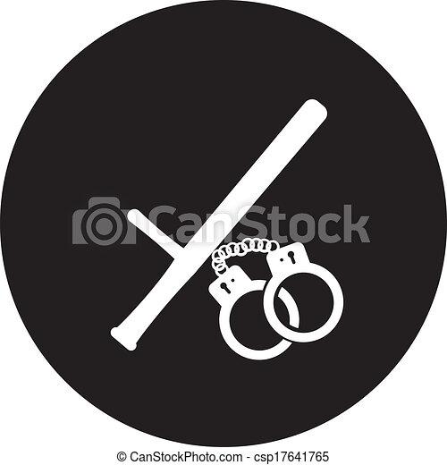 politie, moderne, vrijstaand, illustratie, vector, icon. - csp17641765