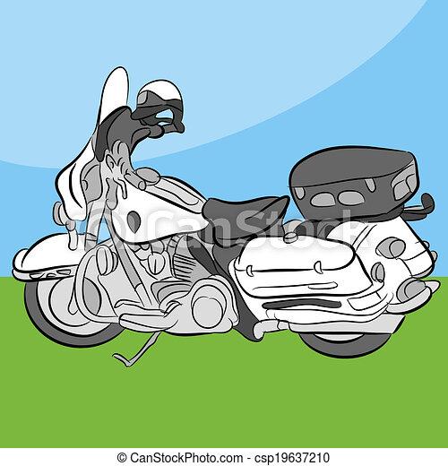 politie, motorfiets - csp19637210