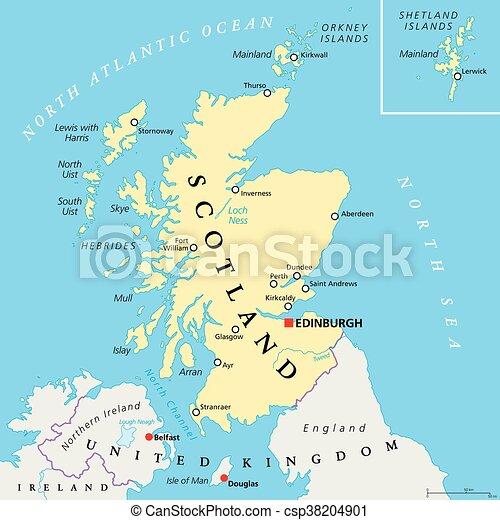 Politiek Onafhankelijk Schotland Kaart Kaart Verenigd