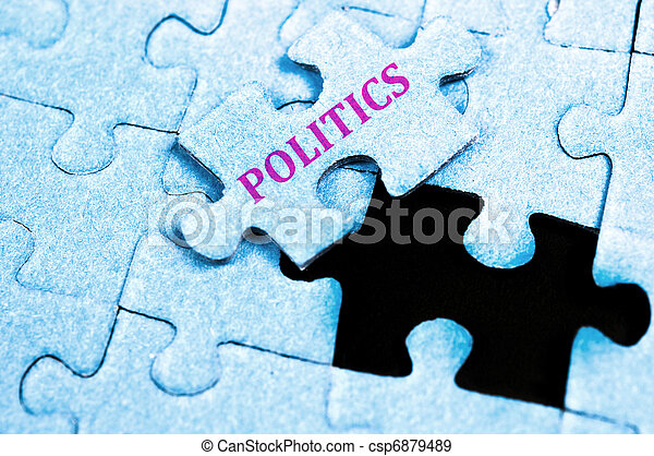 politik, puzzel - csp6879489