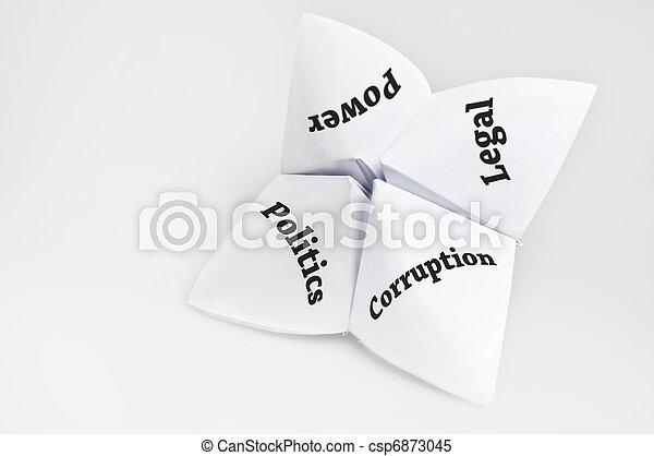 politika, štěstí vypravěč - csp6873045