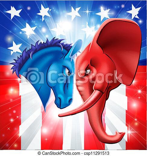 politika, americký, pojem - csp11291513