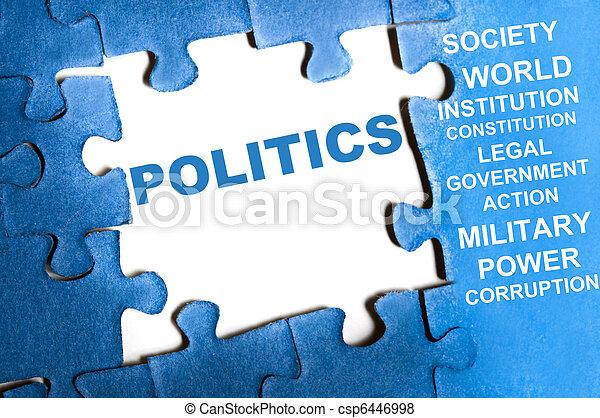politika, hádanka - csp6446998