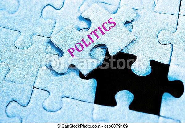 politika, hádanka - csp6879489