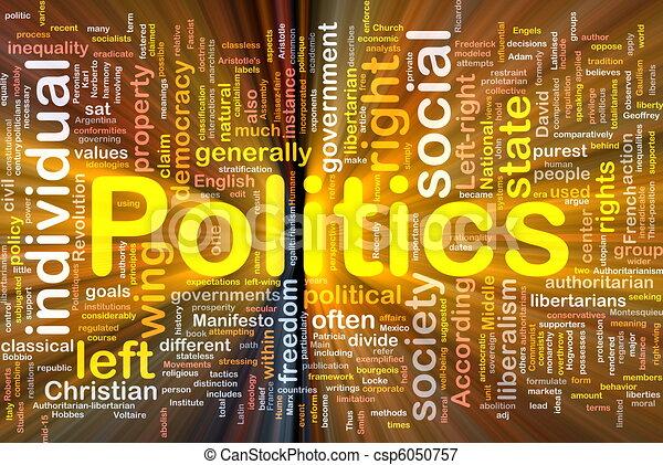 politika, nadšený, pojem, grafické pozadí, společenský - csp6050757