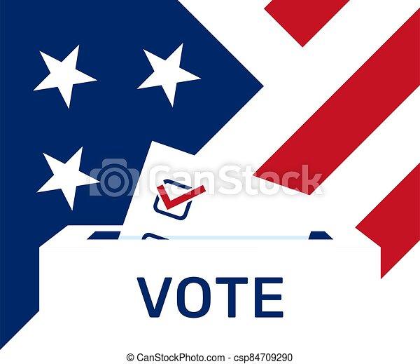 politique, campagne, nous, paper., elections., vote, élection, day. - csp84709290