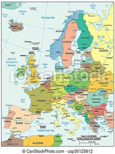 politique, europe, carte - csp30125612