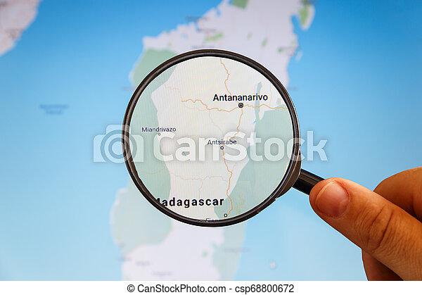 Antananarivo, Madagaskar. Politische Karte. - csp68800672