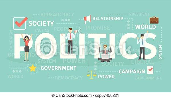 polityka, pojęcie, illustration. - csp57450221