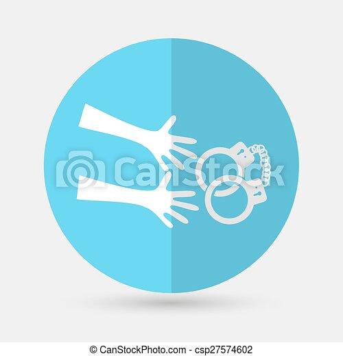 polizia, moderno, isolato, illustrazione, vettore, fondo, icon., bianco - csp27574602