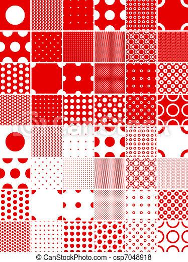 polka dot patterns - csp7048918