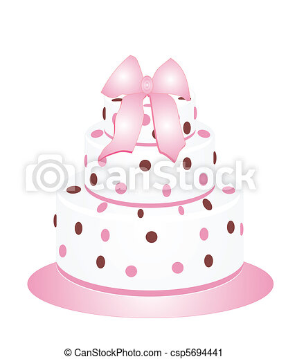 Polka Dots Cake - csp5694441