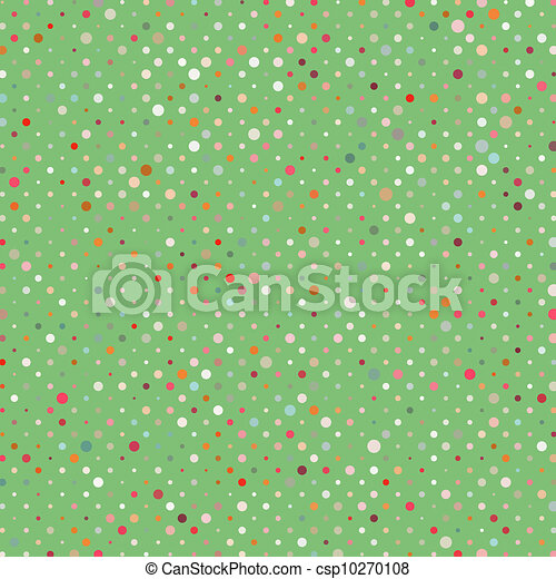 Polka dots colorful abstract pattern. EPS 8 - csp10270108