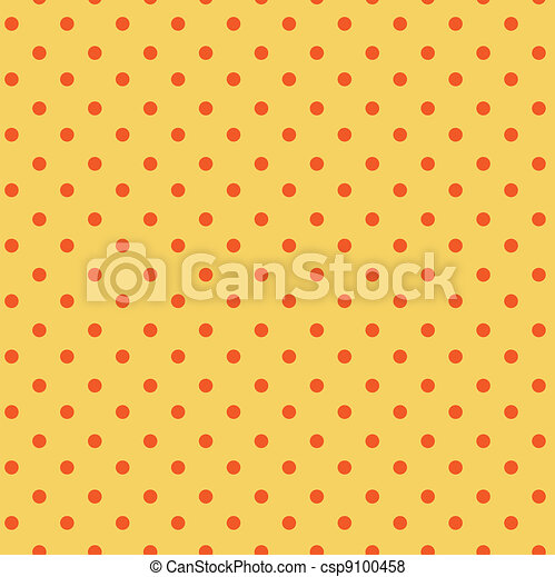 Polka dots orange, yellow seamless - csp9100458