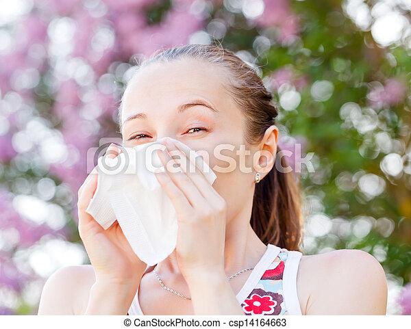 Pollen allergy - csp14164663