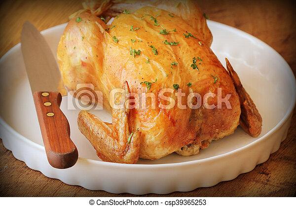 Pollo asado - csp39365253