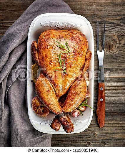 Pollo asado - csp30851946