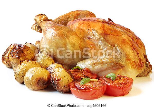 pollo, asado - csp4506166