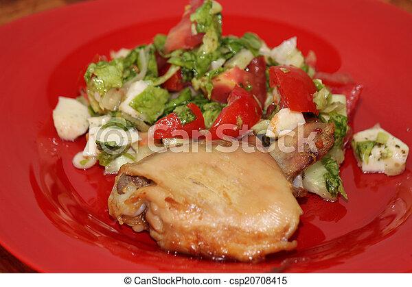 Pata de pollo asada - csp20708415