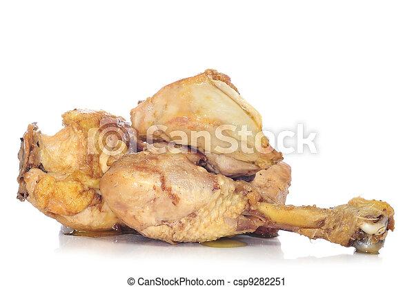 Una pata de pollo asada - csp9282251