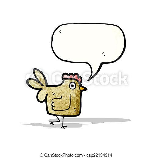 Pollo de dibujos animados - csp22134314